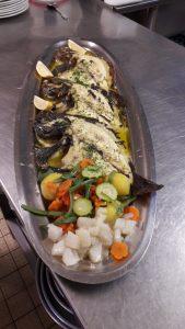 turbotin grillé - restaurant le canal