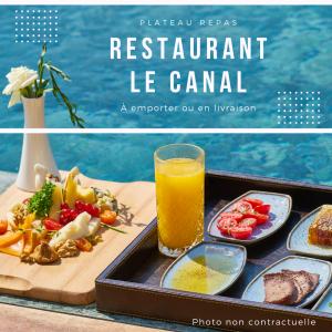 Illustration plateau repas - restaurant le canal