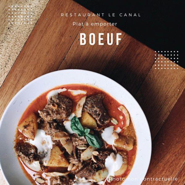 Plat à emporter boeuf- Restaurant Canal Évry-Courcouronnes