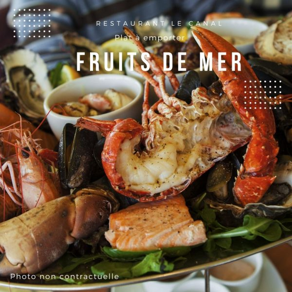 Plat à emporter fruits de mer Restaurant Canal Évry-Courcouronnes