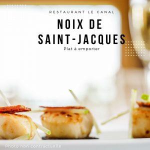 plat-a-emporter-noix-saint-jacques Restaurant Canal Évry-Courcouronnes