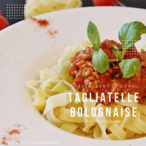 Plat à emporter Tagliatelle bolognaise Restaurant Canal Évry-Courcouronnes