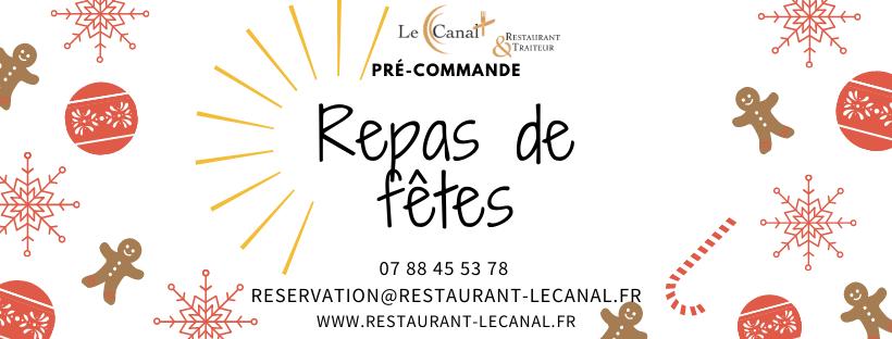 affiche repas de fêtes - restaurant le canal evry - essonne