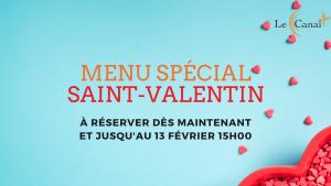 Menu SAINT VALENTIN - le canal restaurant et traiteur